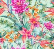 H-077 Тропические цветы 300х270 Повторяющиеся принты и фоны