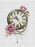L-073 Часы живопись 200х270 Повторяющиеся принты и фоны