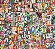 B-022 Буквы и цифры фон 300х270 Принты - Фоны