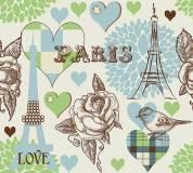 B-026 Париж принт 300х270 Принты - Фоны
