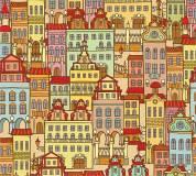 C-038 Цветной город фон 300х270 Принты - фоны