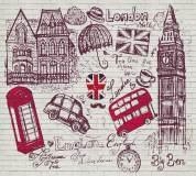 L-075 Символы Лондона 300х270 Принты-Фоны