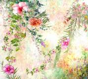 P-058 Красочные цветы акварель 300х270 Принты-Фоны