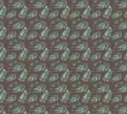 P-151 Пальмовые листья (коричневый) 300х270 Произвольная стыковка по ширине