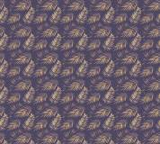 P-152 Пальмовые листья (синий) 300х270 Произвольная стыковка по ширине