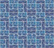 P-163 Орнамент - полосы (синий) 300х270 Произвольная стыковка по ширине
