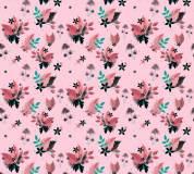 P-181 Цветы-звездочки (розовый) 300х270 Произвольная стыковка по ширине
