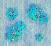 T-219 Рыбки на деревянном фоне 300х270 Текстуры