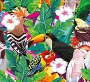 T-246 Тропические птицы 300х270 (повторяющиеся) eps Тропики