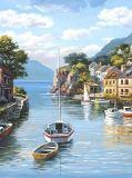 B-046 Городок у моря живопись 200х270 Живопись