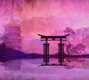 D-095 Храм Япония 300х270 Живопись