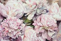 L-069 Цветы акварель 400х270 Живопись