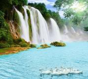 E-050 Гуси у водопада 300х270 Животный мир
