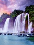 C-094 Восход над водопадом 200х270 Природа