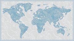 18297 Узорчатая карта (синяя) для диз Baby World