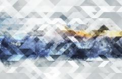 Акварельные горы образец 17673 Geometry