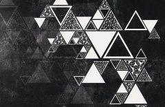 Треугольники на стене #2 образец 17698 Geometry
