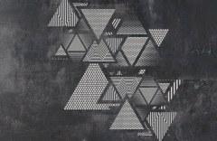 Треугольники на стене #3 образец 17699 Geometry