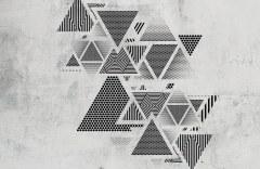 Треугольники на стене образец 17700 Geometry