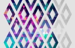 Яркие ромбы образец 17711 Geometry