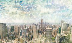 18440_18441_New York листья Urban