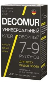 DECOMUR клей обойный Универсальный 7-9рул-200гр