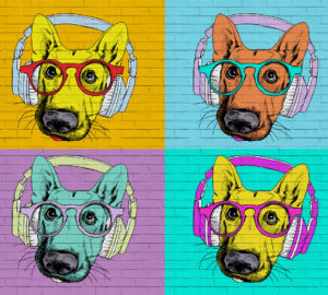 L-080 Собаки поп арт 300х270 Поп-арт